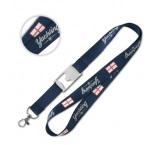 ML1152 - Flat polyester lanyard with metal bottle opener. Min 100 pcs