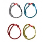 ML3010 - Adjustable 2-tone cord wristband with metal closure. Min 250 pcs