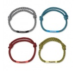 ML3011 - Adjustable 2-tone cord wristband. Min 250 pcs